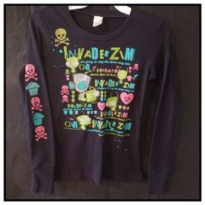 Invader Zim Gir thermal, EUC, size small (or xs)